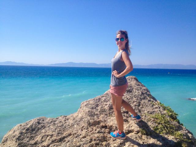 Old Navy Shirt TJ Maxx Shorts Nike Shoes GREECE blogger