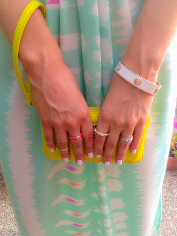 TJ Maxx dress Express Runway Clutch White Nails