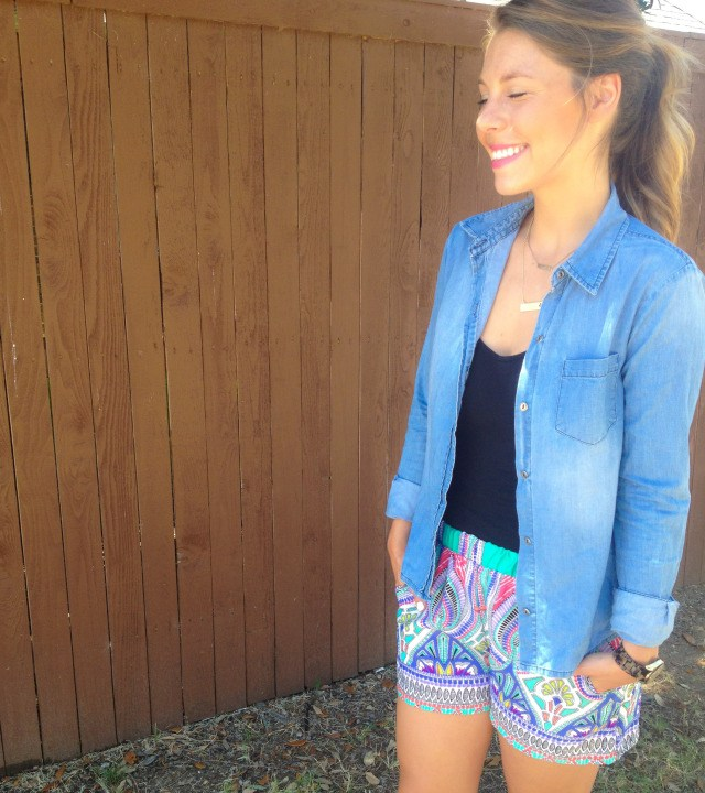 Jean Shirt Katydid Collection Moroccan Shorts