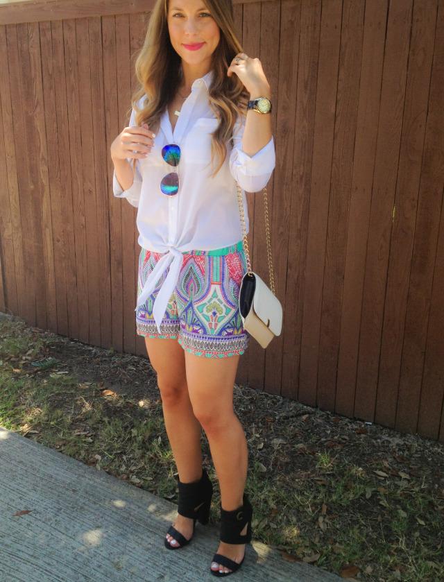 Katydid Moroccan Shorts Dallas Blogger