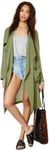 Nasty Gal Draped Trench Coat
