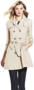 Vince Camuto Tie Waist Trench