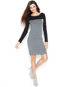 Colorblock Sweater Dress Macys
