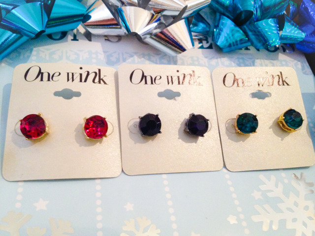 Holiday Giveaway Gem Stud Earrings