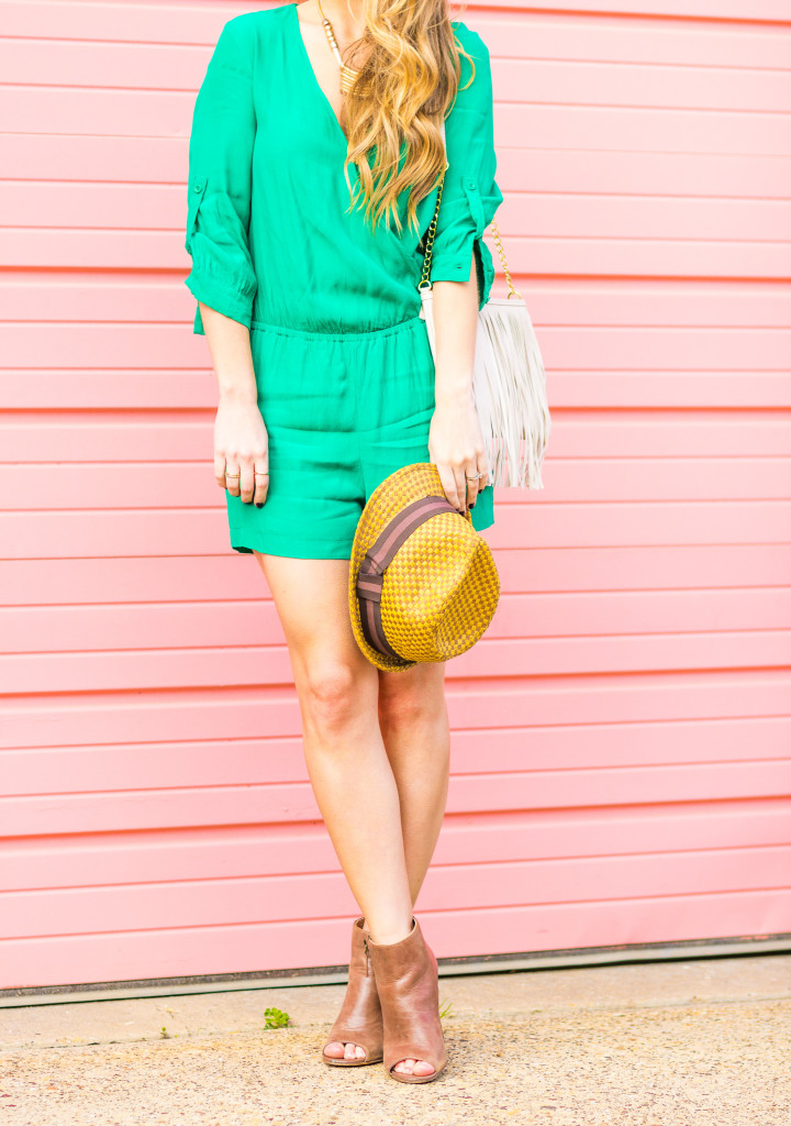 Dallas Fashion Blogger Green Romper