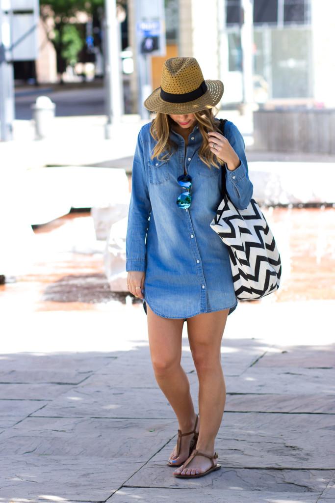 Summer Fashion Chambray Dress