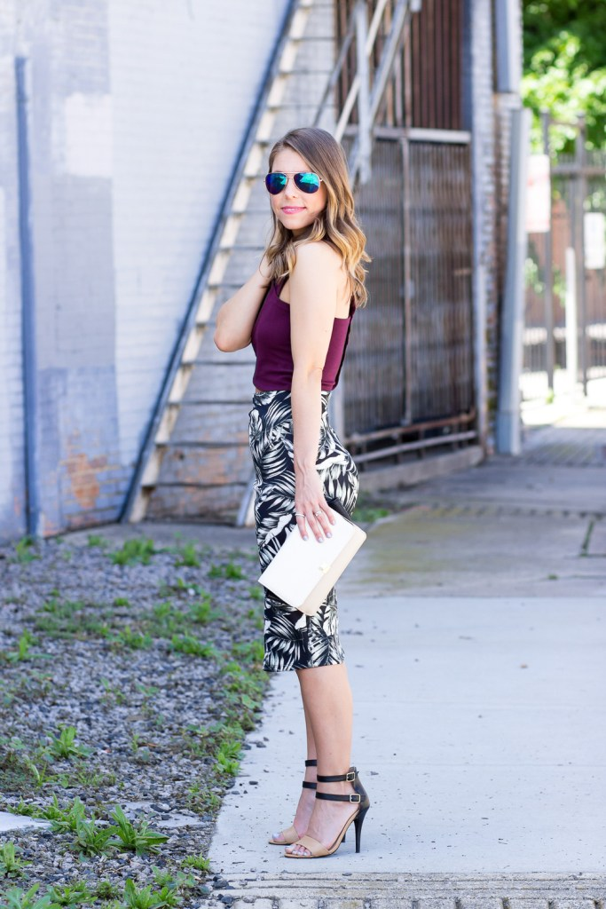 Crop Top and Pencil Skirt Style