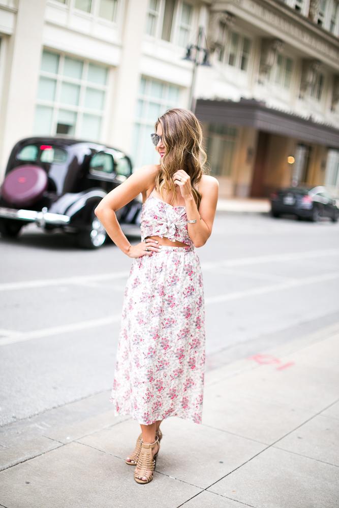 Nordstrom Floral Print Midi Dress