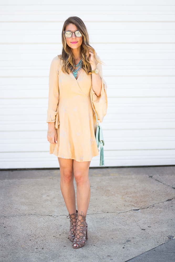 Yellow Free People Dress