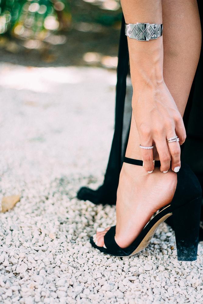 Black Ankle Strap Sandals