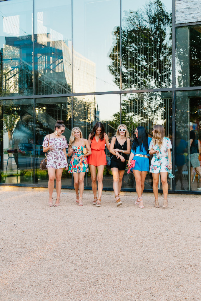Fashion Bloggers wearing rompers
