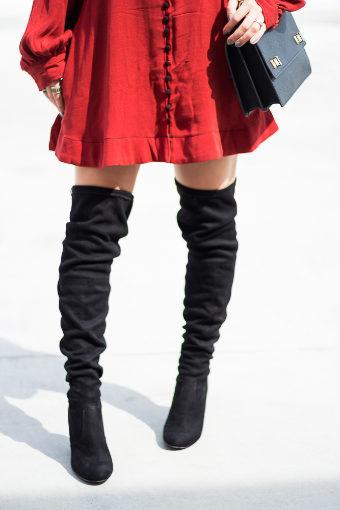 Black Steve Madden Over the knee boots