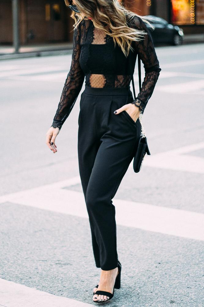 express black lace jumpsuit