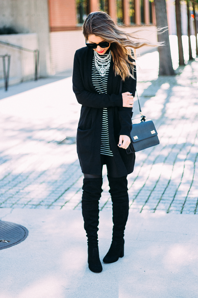 black and white stripes zara dress