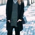 black and white stripes zara dress