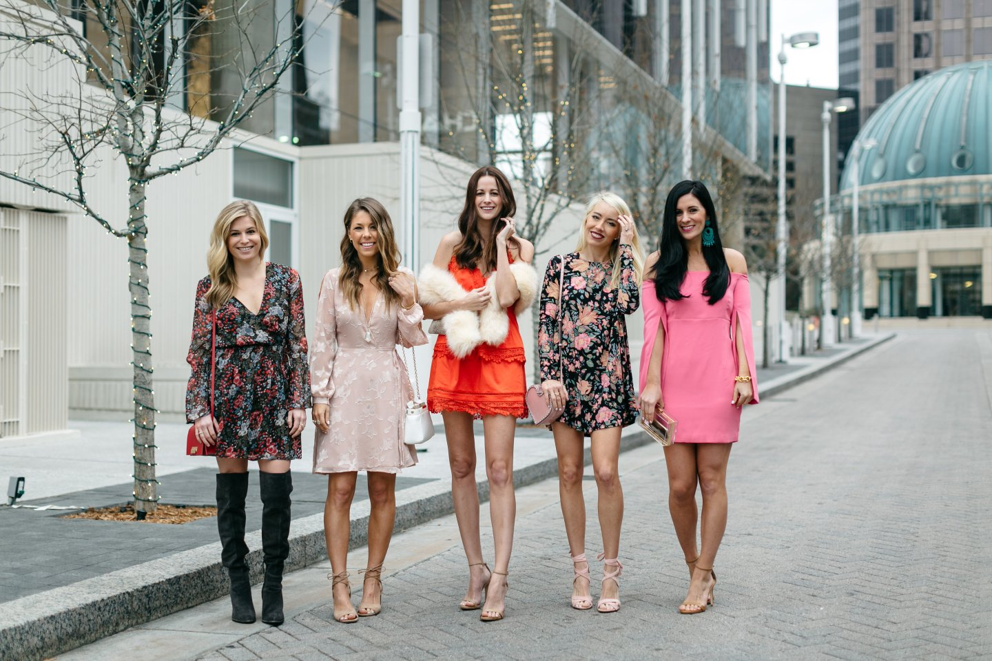 fashion bloggers in valentine's day dresses