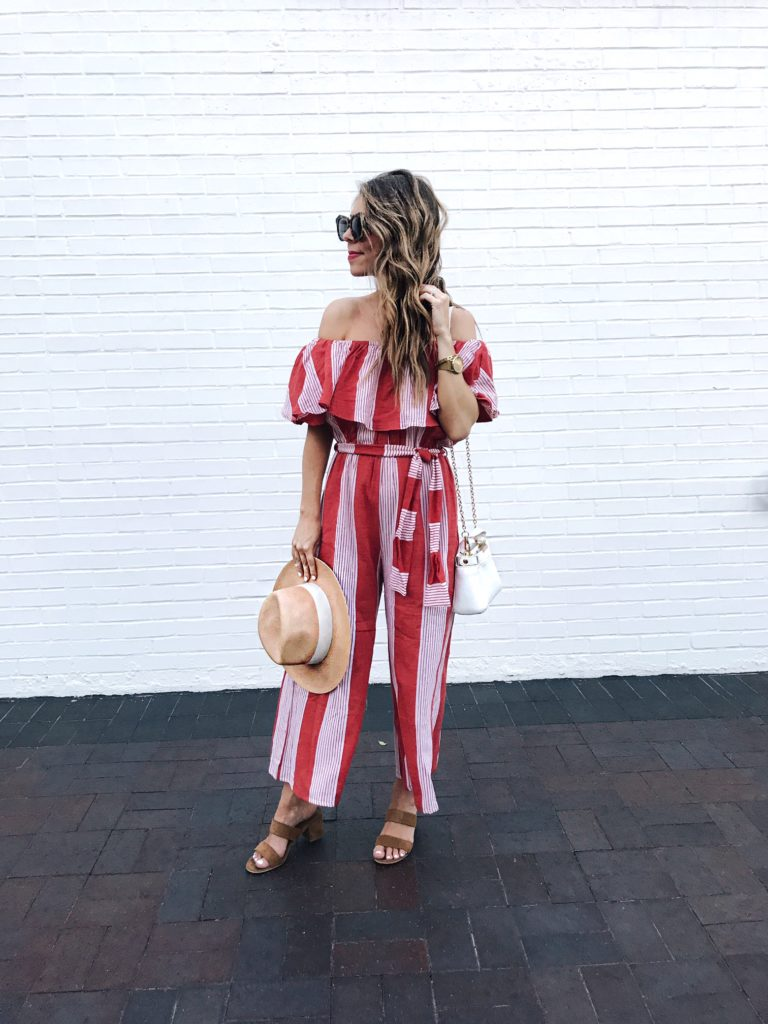 35ed038f5c4 off the shoulder striped jumpsuit from revolve ...