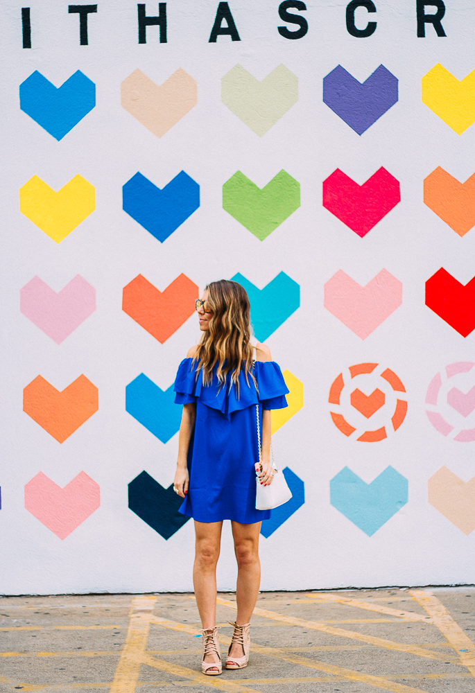 dallas heart wall dallas blogger