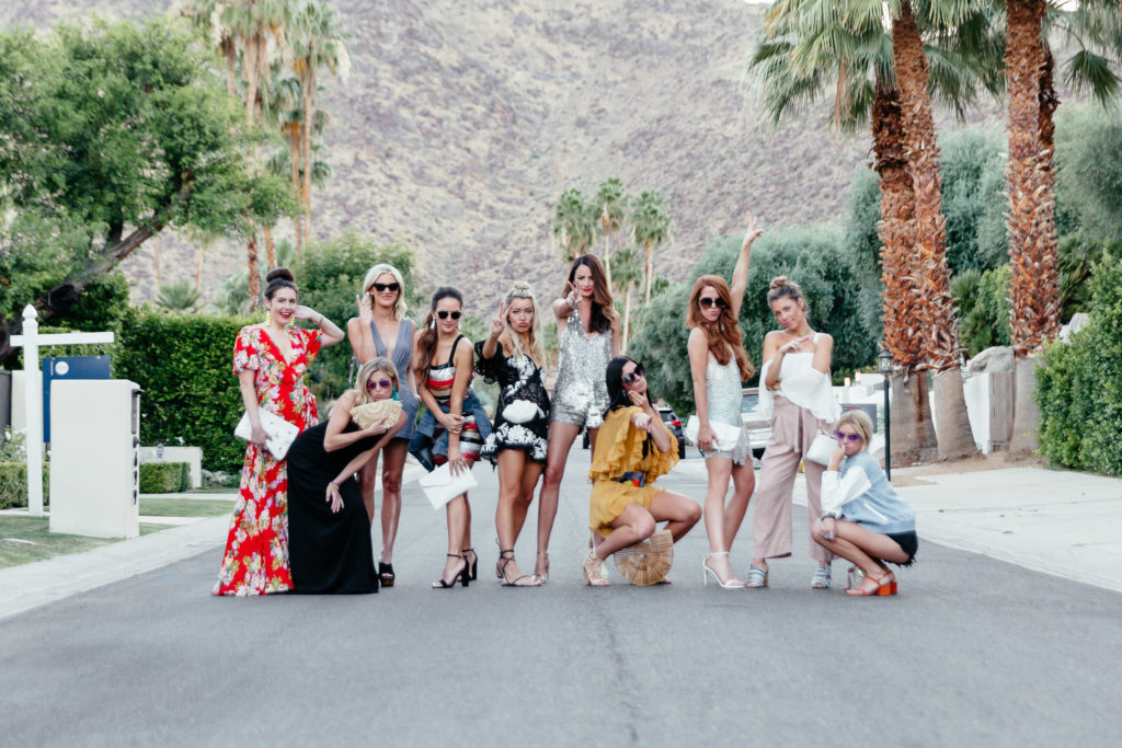 palms springs bachelorette party bloggers
