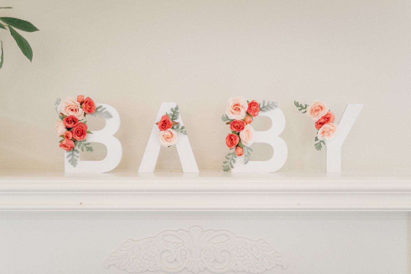 wooden baby shower sign