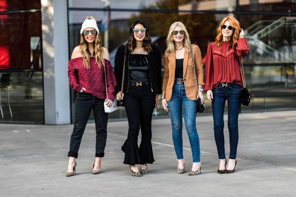 how to style leopard pumps