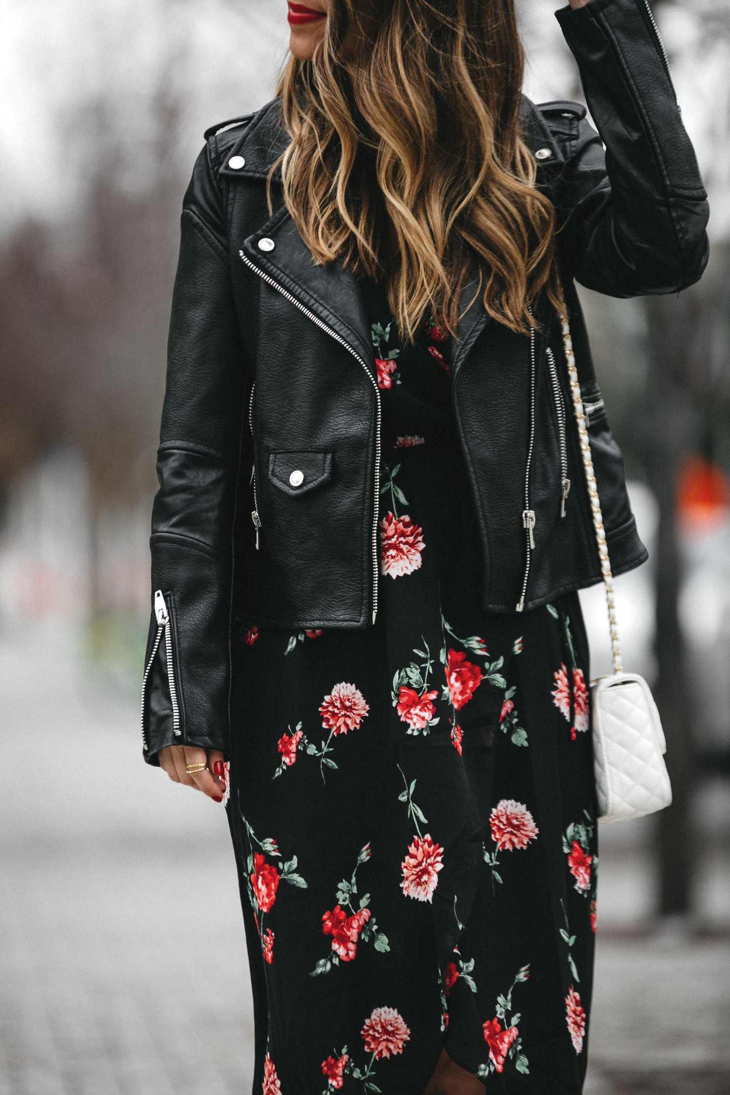 edgy Valentine's Day outfit