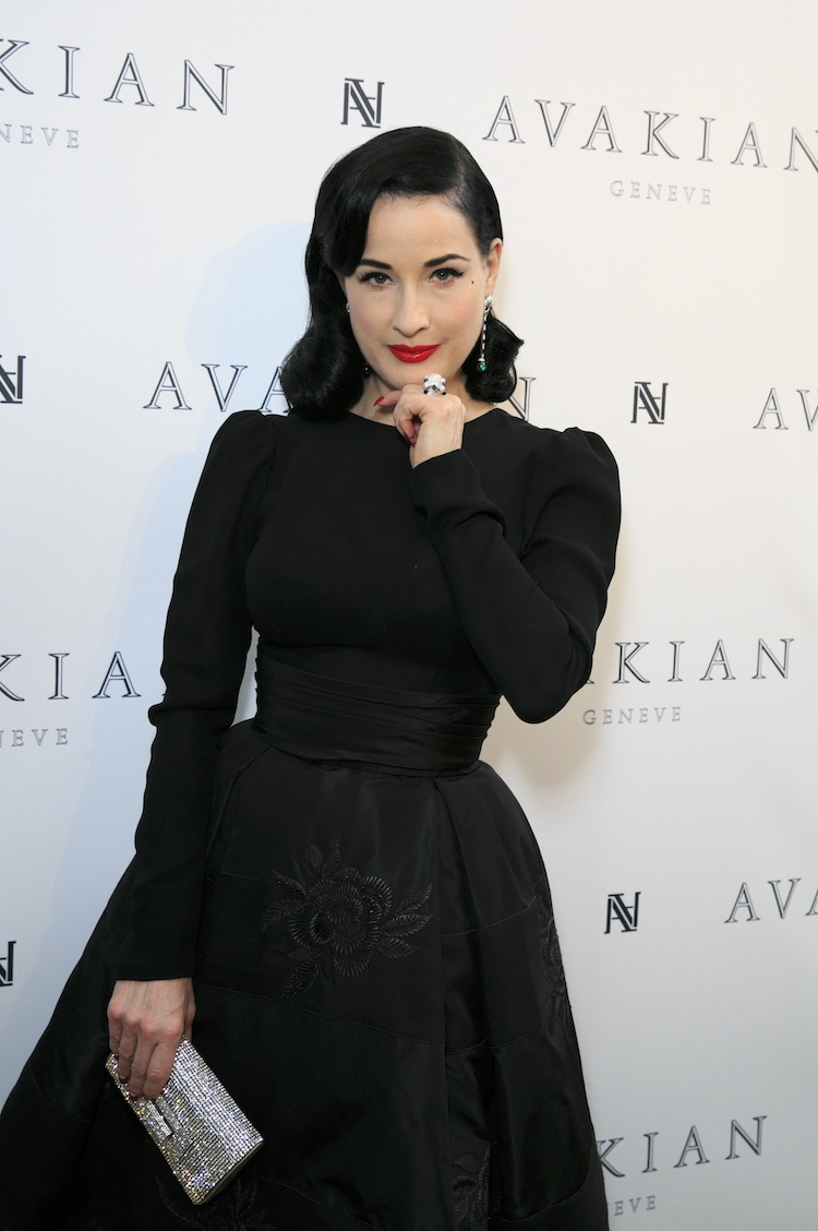 Dita Von Teese Visits The Avakian Suite At Carlton Hotel On May 23, 2015 In