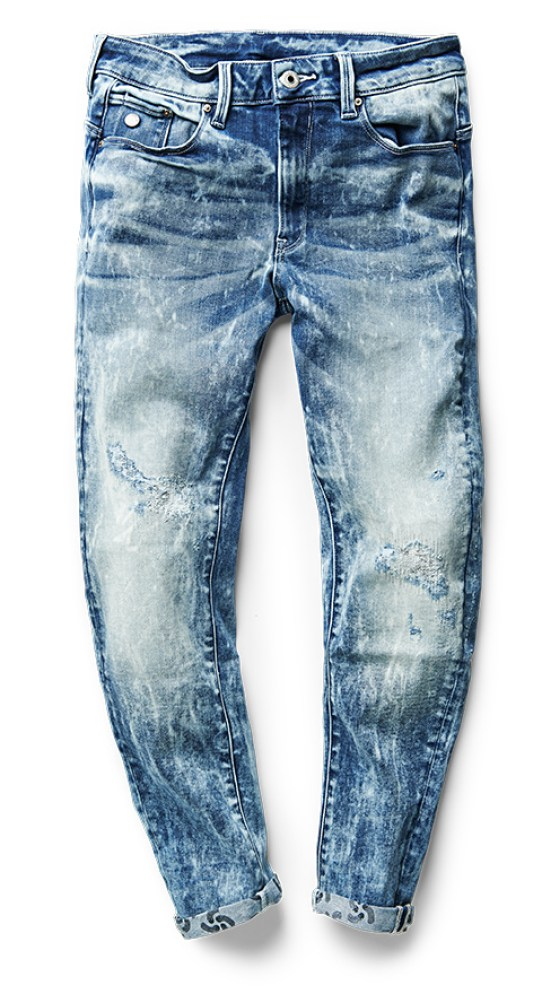 RAW FOR THE OCEANS Type C 3D super slim jeans
