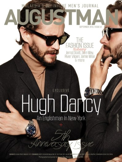 Hugh Dancy Covers the September 2013 Issue of August Man