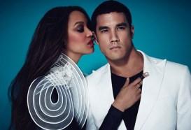 Tyra poses with Adam