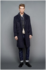 J.Crew is on board with blue denim for fall, incorporating the basic into a wardrobe of sharp, tailored pieces. J.Crew Fall/Winter 2015 Menswear Collection.