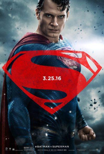 Batman v Superman: Dawn of Justice poster artwork featuring Henry Cavill as Superman