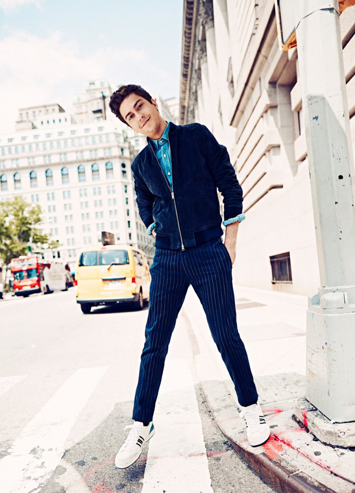 25345b2791e Nat Wolff Sports Business Casual Styles for GQ Shoot