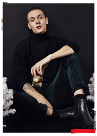 Yuri Pleskun wears turtleneck Our Legacy, corduroy pants Haider Ackermann and boots Lanvin.