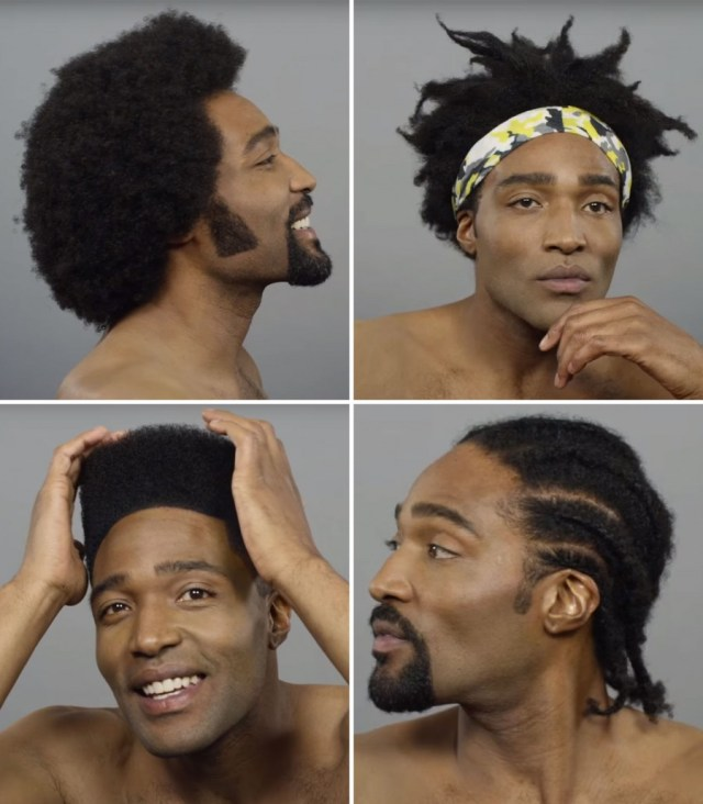 100 years of black hair: cut revisits iconic men's