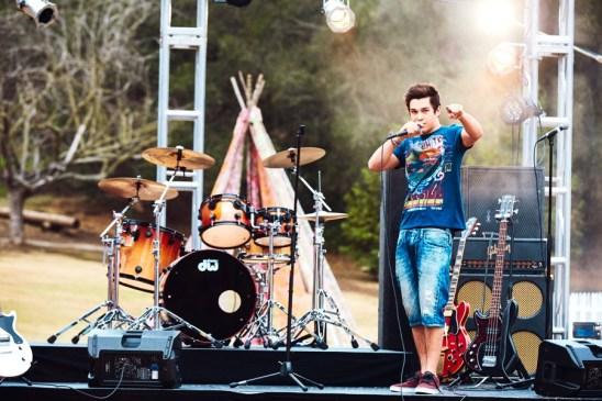 Austin Mahone wears Buffalo David Bitton for Macy's American Icons summer 2016 campaign.