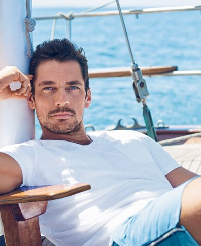 d5a545c079fb4 David Gandy Hits the Beach with Marks & Spencer for Autograph Collection