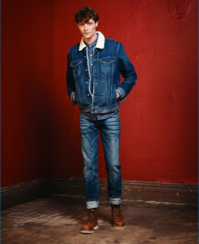 a99918a7 Matthew Hitt Makes a Case for Double Denim with Levi's