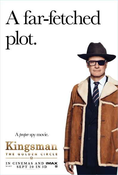 Kingsman The Golden Circle Poster Colin Firth Former Agent Galahad Style