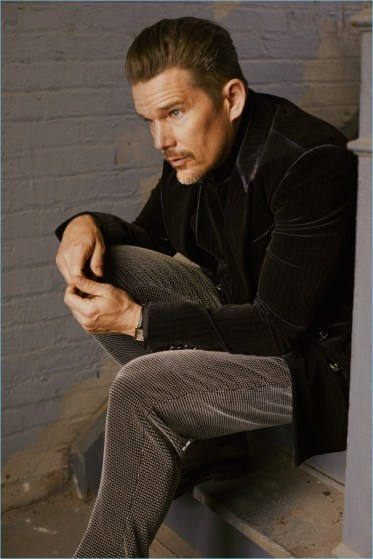 ethan hawke gq  photo shoot style fashion