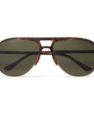 e0c14cd1a59 Gucci - Aviator-Style Tortoiseshell Acetate and Gold-Tone Sunglasses - Men  - Brown