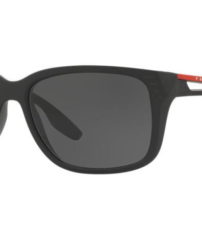 0ef212ec9a Prada Linea Rossa Ps 03ts 59 Black Matte Rectangle Sunglasses