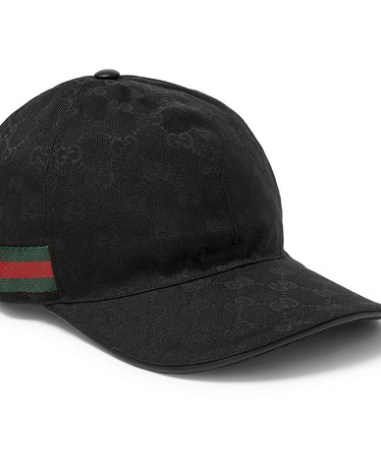 80d48b581 Gucci – Logo-Print Leather and Mesh Baseball Cap – Men – Black | The ...