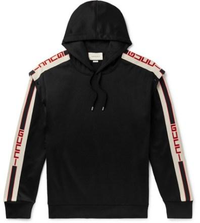 54041881a1d Gucci – Logo Striped Tech-Jersey Track Jacket – Men – Black