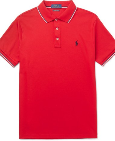 336ab0f80 Polo Ralph Lauren – Slim-Fit Loopback Cotton-Jersey Polo Shirt – Men ...