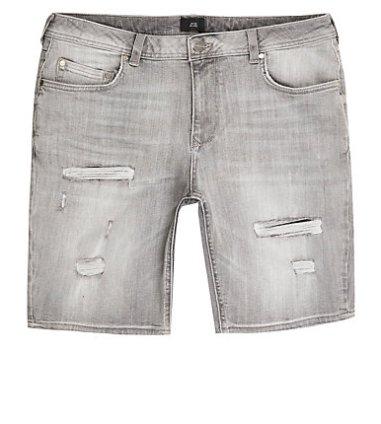fd3fb2f590 River Island Mens Mid blue Sid ripped skinny jeans | The Fashionisto