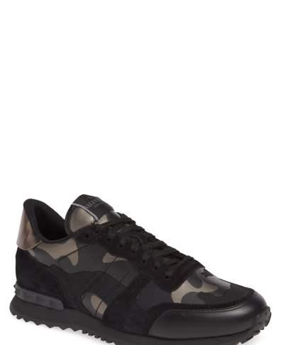 3b519f623e270 Men's Valentino Garavani Camo Rockrunner Sneaker, Size 11US / 44EU - Black