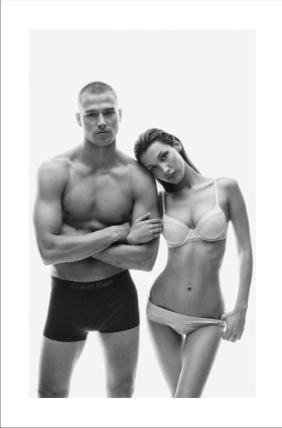 Matthew Noszka Bella Hadid 2019 Calvin Klein Underwear Campaign