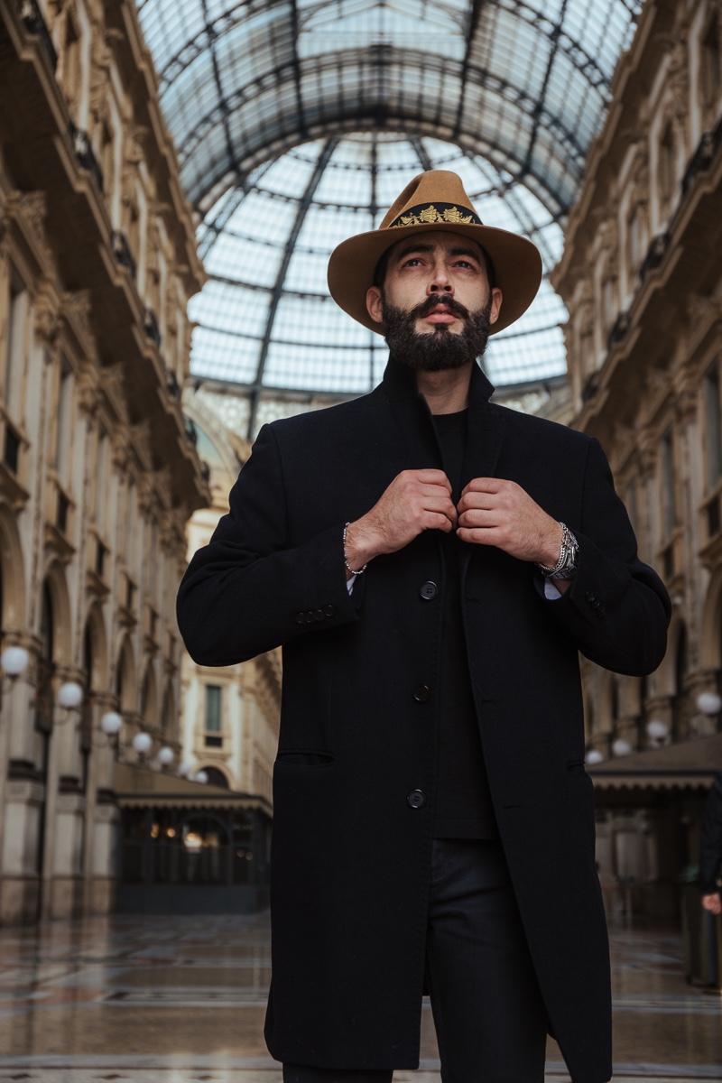 Simone Coriddi stars in the campaign for the Bogart by Borsalino Cut 5 hat.