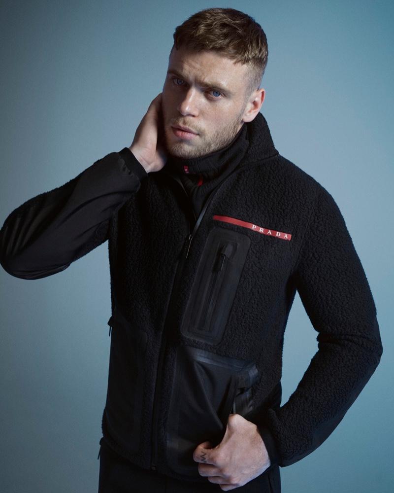 Gus Kenworthy stars in the fall-winter 2020 Prada Linea Rossa campaign.
